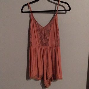 NWT Free People Lacey Terra Cotta Colored Romper